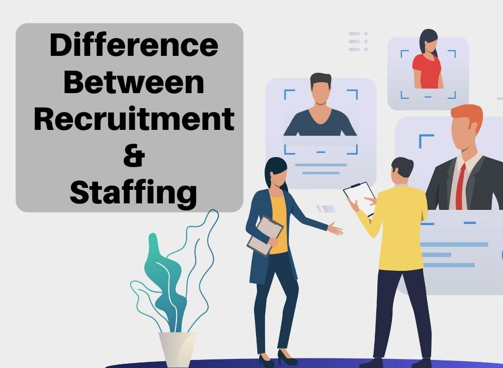 Difference between recruitment & staffing